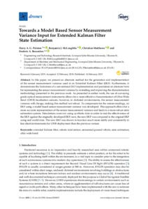 Towards a Model Based Sensor Measurement Variance Input for Extended