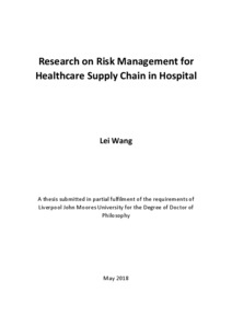Research on Risk Management for Healthcare Supply Chain in Hospital